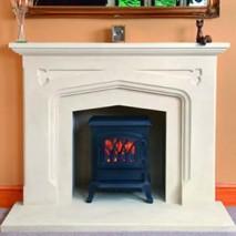 Bath Stone Fireplace 10