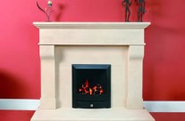 Bath Stone Fireplace 12