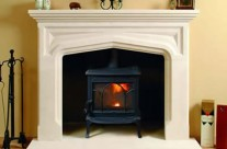 Bath Stone Fireplace 6